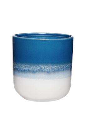 Hübsch - Cup - Ceramic Mugs - Blue