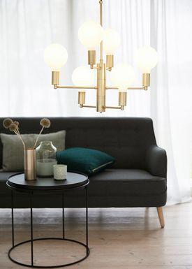 Hübsch - Lamp - Bouquet Hanging Lamp - Opal
