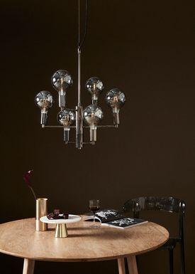 Hübsch - Lamp - Bouquet Hanging Lamp - Grey
