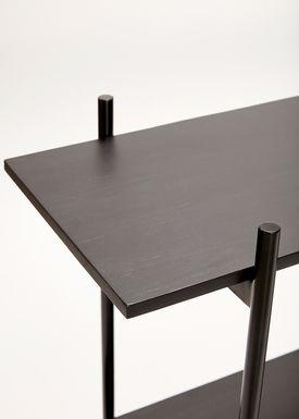 Hübsch - Display - Metal Wooden Top Shelf - Black