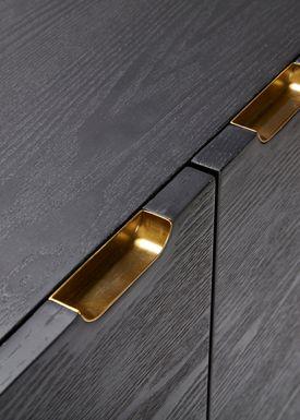 Hübsch - Skab - Dresser - Black/Brass