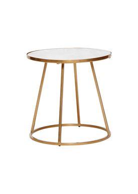 Hübsch - Soffbord - Marble Frame Sofa Table - Small - White/Gold