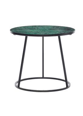 Hübsch - Coffee Table - Marble Frame Sofa Table - Medium - Green/Black