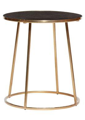 Hübsch - Coffee Table - Marble Frame Sofa Table - Large - Black/Gold