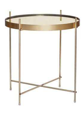 Hübsch - Coffee Table - Round Mirror Top Table - Black