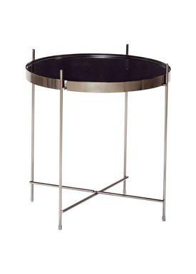 Hübsch - Soffbord - Round Mirror Top Table - Black