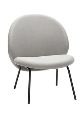 Hübsch - Stol - Lounge Chair - Gray