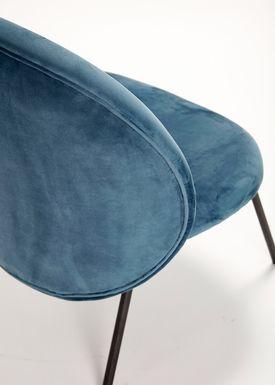 Hübsch - Stol - Lounge Chair - Blue