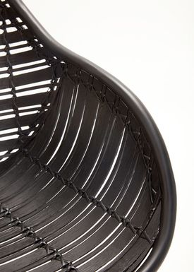Hübsch - Chair - Rattan Chair w/arm rest - Black