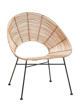 Hübsch - Chair - Round Rattan Hole Chair - Nature