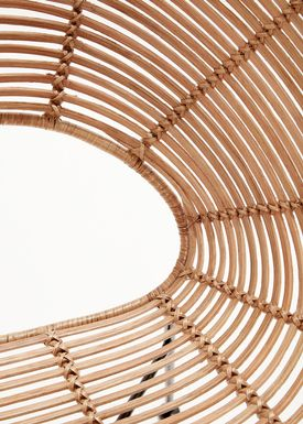 Hübsch - Stol - Round Rattan Hole Chair - Nature