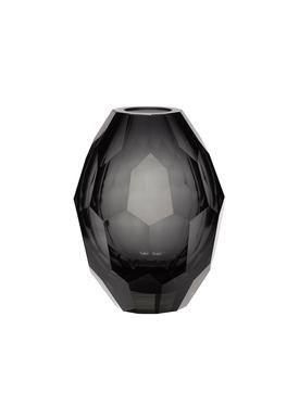 Hübsch - Vase - Hübsch Glass Vase - Grey/Clear