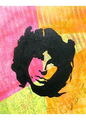 Falentin Art - Painting - Jim Morrison - pink/orange/gul