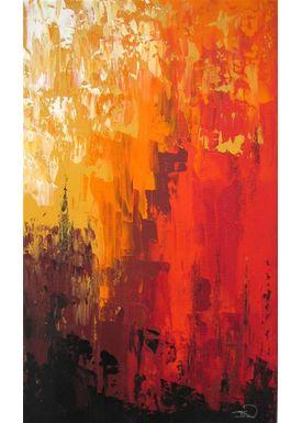 Iren Falentin - Painting - Bike - Orange
