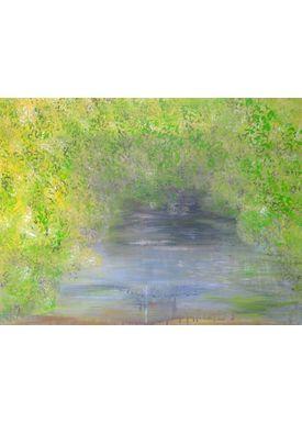 Iren Falentin - Painting - Canoeing - Green