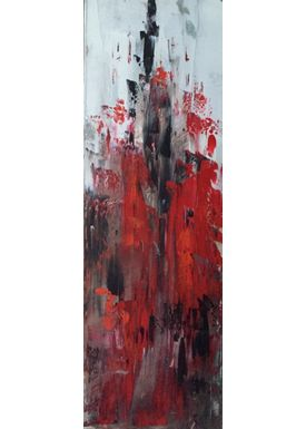 Iren Falentin - Painting - City red - Red
