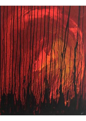 Iren Falentin - Painting - Clearing - Red