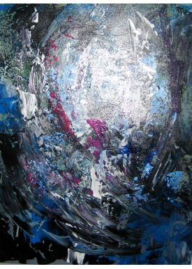 Iren Falentin - Painting - Colored angels - Blue