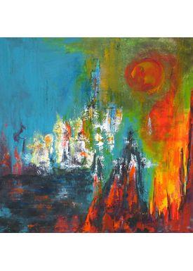 Iren Falentin - Painting - Evening red - Multi