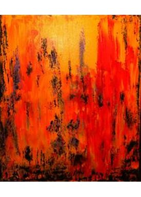 Iren Falentin - Painting - Fashion 2 - Orange