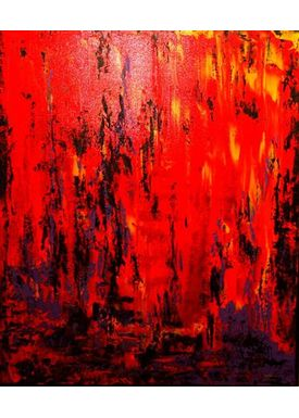 Iren Falentin - Painting - Fashion 3 - Orange
