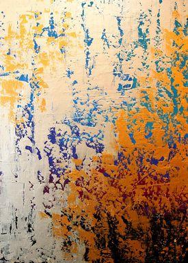 Iren Falentin - Painting - Flickering - Blue