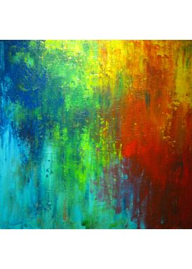 Iren Falentin - Painting - From the air - Multi