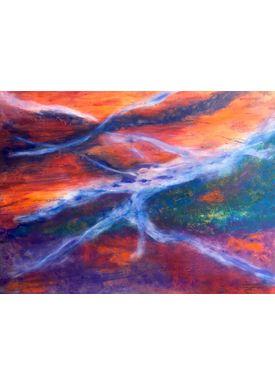 Iren Falentin - Painting - Garden table - Orange