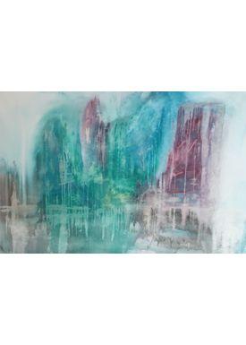 Iren Falentin - Painting - Green waterfall - Green