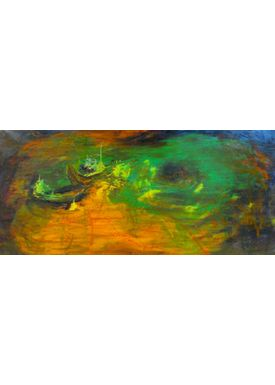 Iren Falentin - Painting - High sea - Green