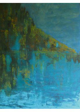 Iren Falentin - Painting - in the Lagoon - Turquise
