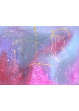 Iren Falentin - Painting - Interior of the Earth - Purple