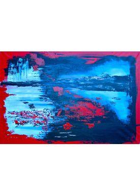 Iren Falentin - Painting - Island - Red