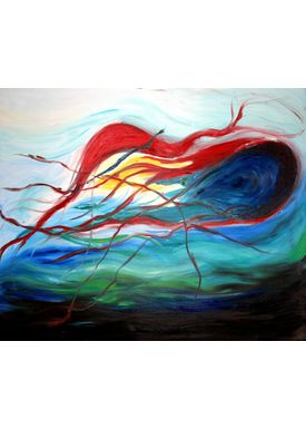 Iren Falentin - Painting - Jellyfish - Multi