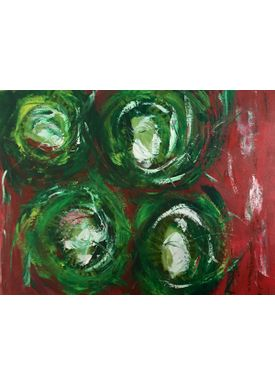 Iren Falentin - Painting - Kiwis - Green