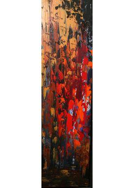 Iren Falentin - Painting - Lake view - Orange