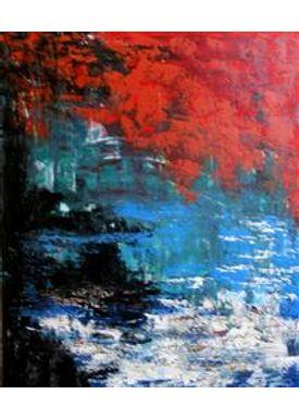Iren Falentin - Painting - Monte's lake - Multi