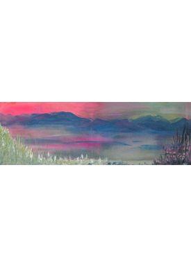Iren Falentin - Painting - Mountain Lake - Pink