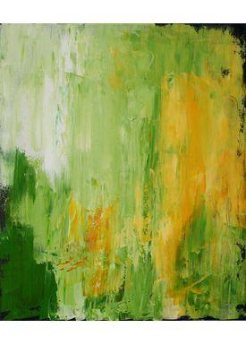 Iren Falentin - Painting - Neon people - Green
