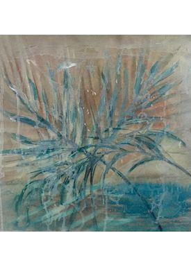 Iren Falentin - Painting - Palm beach - Green