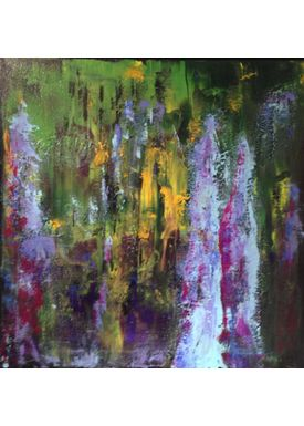 Iren Falentin - Painting - People in the rainforest - Green