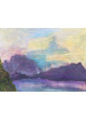 Iren Falentin - Painting - Purple mountains - Purple