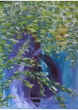 Iren Falentin - Painting - Purple Spring - Purple/green