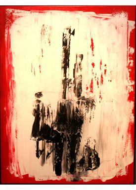 Iren Falentin - Painting - Spectators - Red