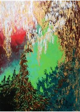 Iren Falentin - Painting - Winter wonderland - Multi