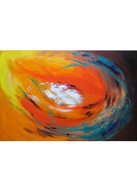 Iren Falentin - Painting - Yellow bud - Yellow