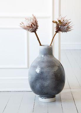 Kähler - Vase - Unico Gulvvase - Mørkegrå