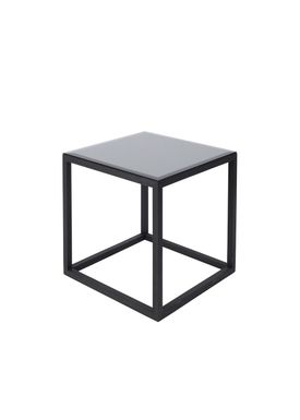 Kristina Dam - Bord - The Cube Table w. Marble Top - Sort/Sort (S)