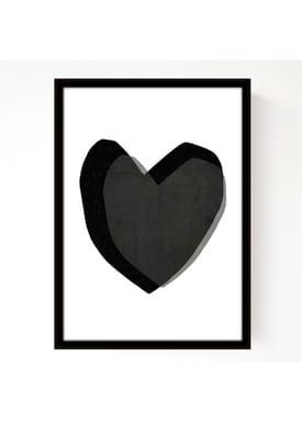 Seventy Tree - Poster - Layered Hearts 30X40 - Black
