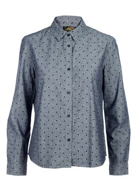 Le Mont Saint Michel - Shirt - Square Print Shirt - Blue/Navy Square